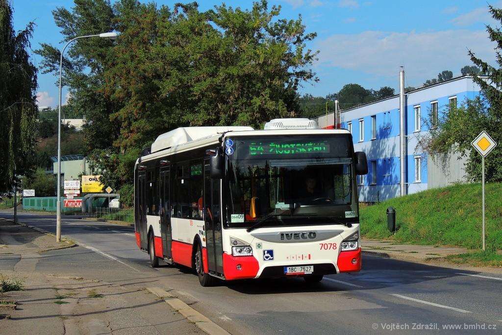 Fotogalerie » Iveco Urbanway 12M CNG 1BC 7527 7078   Brno   Maloměřice   Kulkova