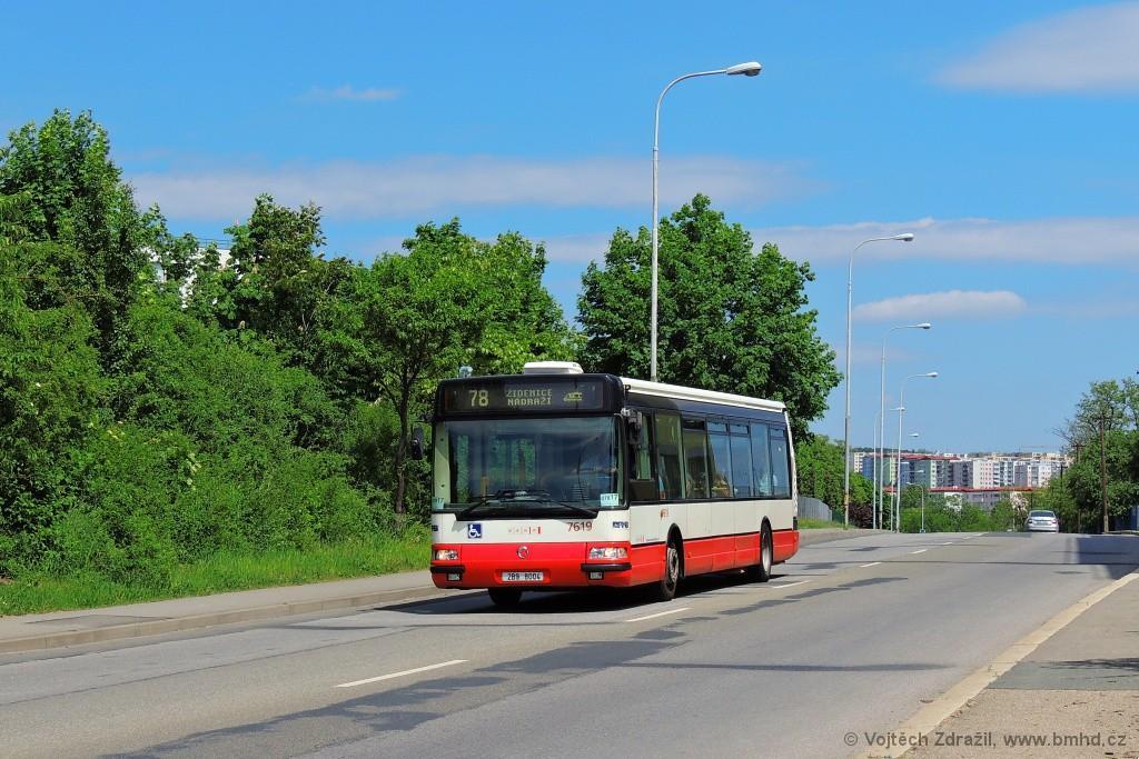 Fotogalerie » Irisbus Citybus 12M 2071.40 2B9 8004 7619 | Brno | Líšeň | Křtinská
