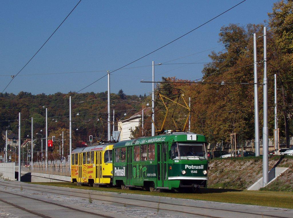 Fotogalerie » ČKD Tatra T3 1546 | ČKD Tatra T3 1547 | Brno | Pisárky | Hlinky