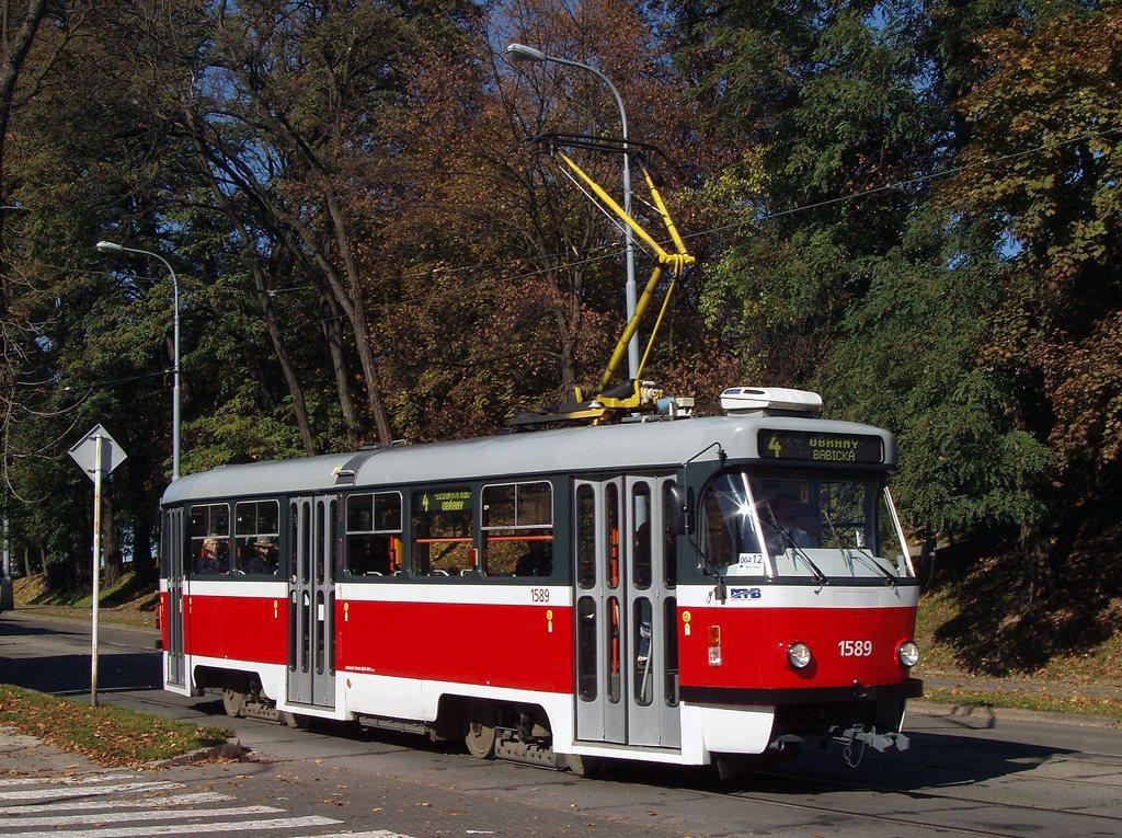 Fotogalerie » ČKD Tatra T3P 1589 | Brno | Veveří | Údolní