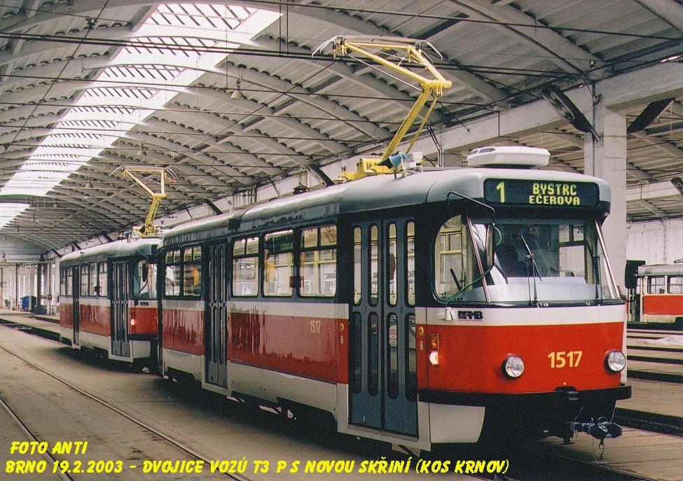 Fotogalerie » Pragoimex T3R.PV 1517 | Pragoimex T3R.PV 1558 | Brno | Medlánky | Vozovna Medlánky