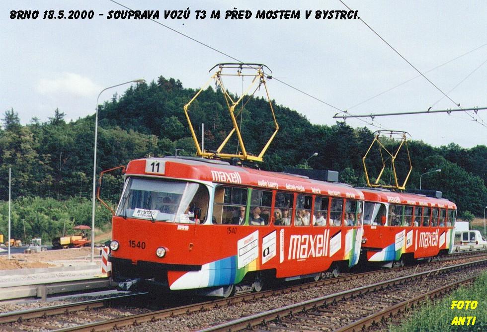 Fotogalerie » ČKD Tatra T3M 1540 | Brno | Bystrc