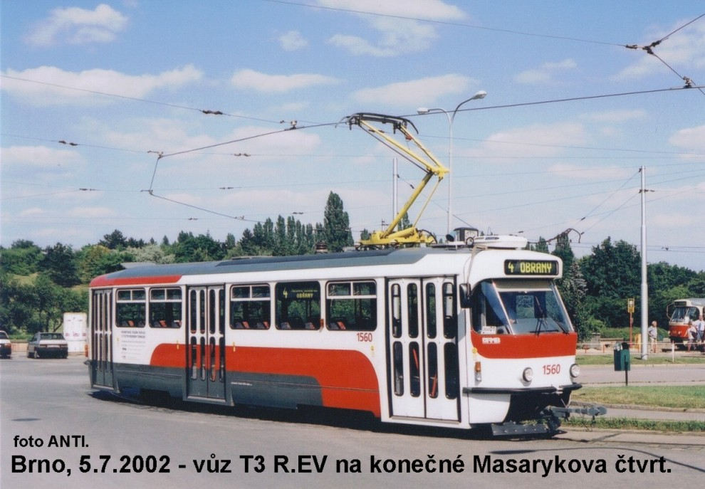 Fotogalerie » Pragoimex T3R.EV 1560 | Brno | Masarykova čtvrť | náměstí Míru | Náměstí Míru, smyčka