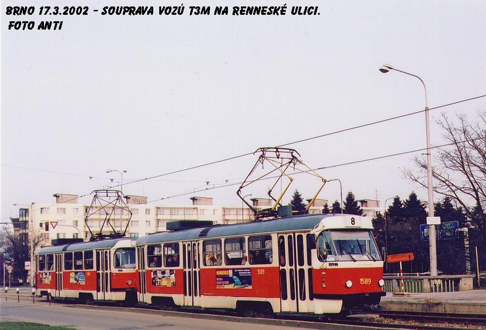 Fotogalerie » ČKD Tatra T3M 1589 | Brno | Štýřice | Renneská