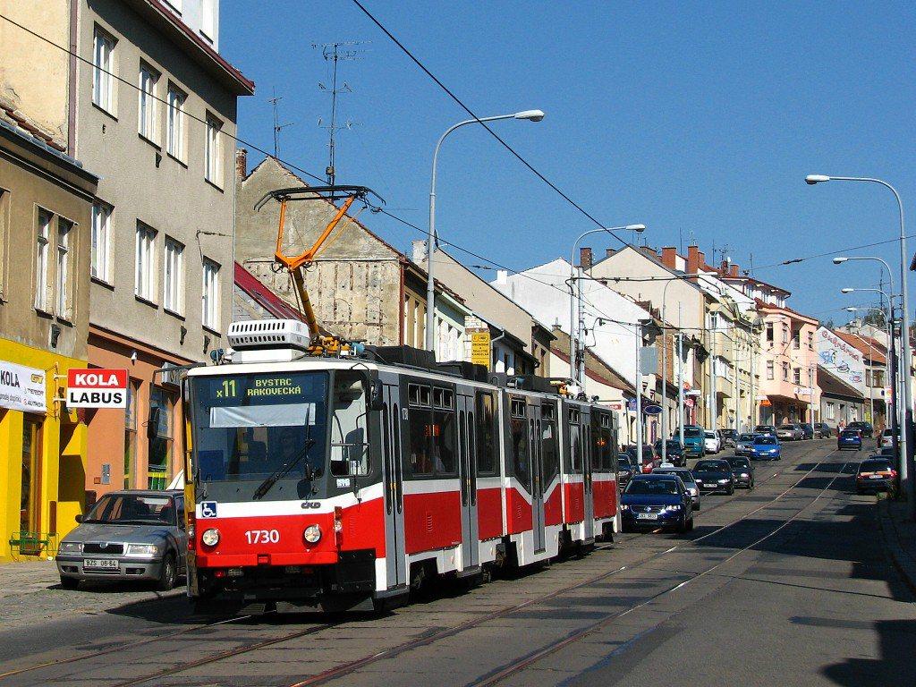 Fotogalerie » ČKD Tatra KT8D5N 1730 | Brno | Žabovřesky | Minská