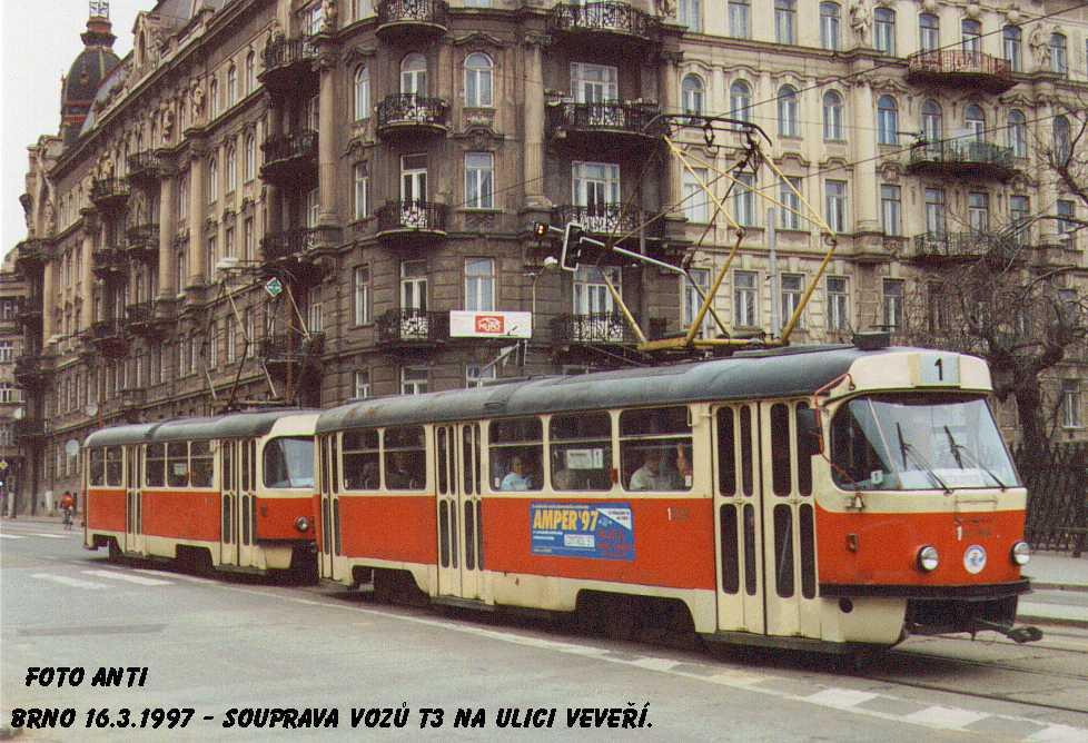 Fotogalerie » ČKD Tatra T3 1504 | Brno | Veveří | Veveří