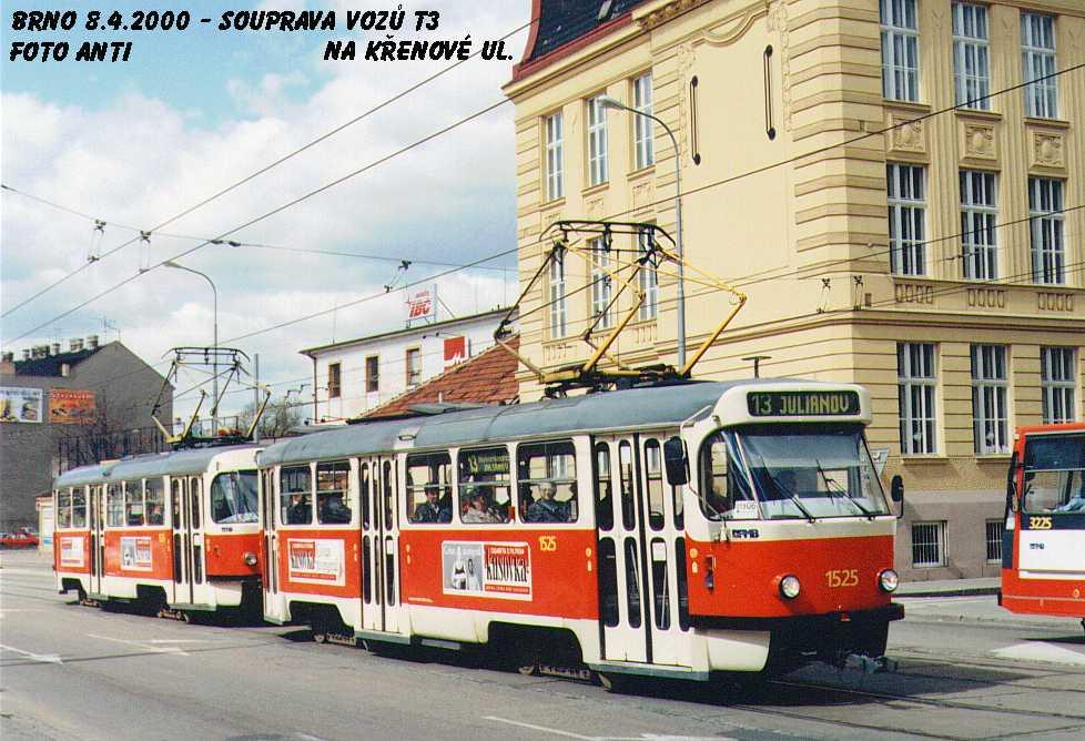 Fotogalerie » ČKD Tatra T3 1525   Brno   Trnitá   Křenová