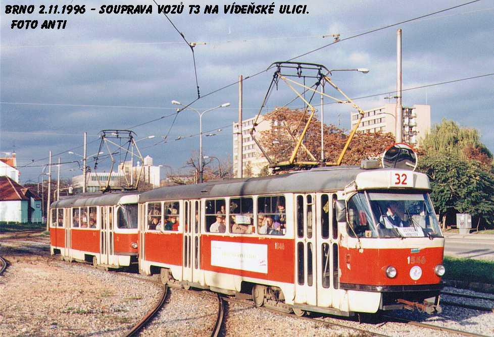 Fotogalerie » ČKD Tatra T3 1546 | Brno | Štýřice | Vídeňská