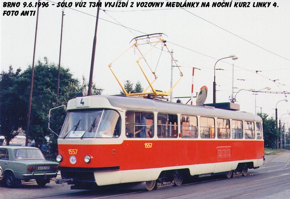 Fotogalerie » ČKD Tatra T3M 1557 | Brno | Medlánky | Hudcova