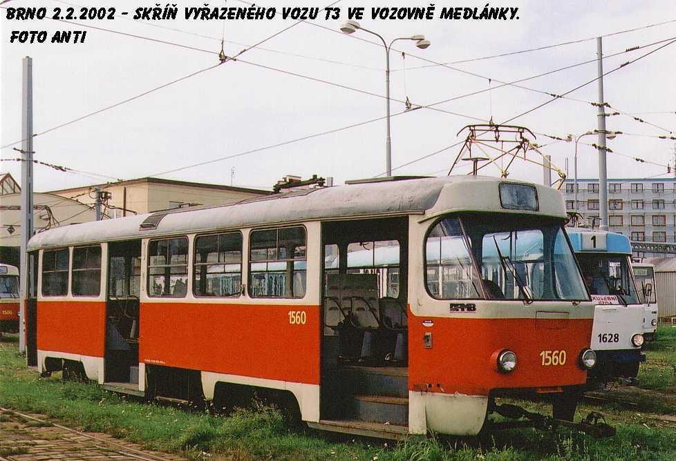Fotogalerie » ČKD Tatra T3 1560 | Brno | Medlánky | Vozovna Medlánky
