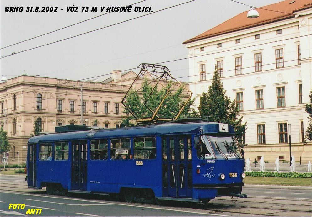 Fotogalerie » ČKD Tatra T3M 1568 | Brno | střed | Husova
