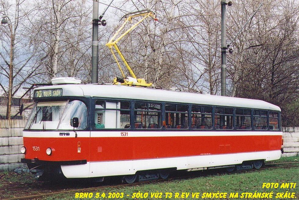 Fotogalerie » Pragoimex T3R.EV 1531 | Brno | Stránská skála | Stránská skála, smyčka