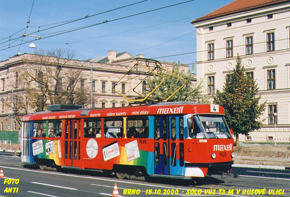 Fotogalerie » ČKD Tatra T3M 1535   Brno   střed   Husova