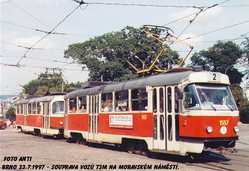 Fotogalerie » ČKD Tatra T3M 1557 | Brno | střed | Moravské náměstí