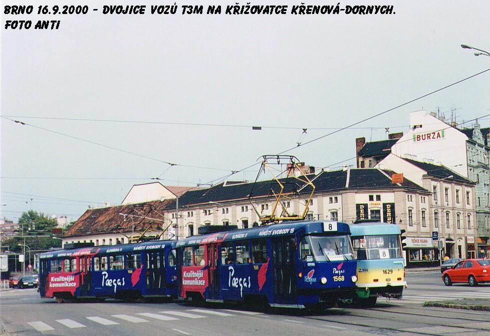 Fotogalerie » ČKD Tatra T3M 1568 | ČKD Tatra T3M 1566 | Brno | Trnitá | Dornych
