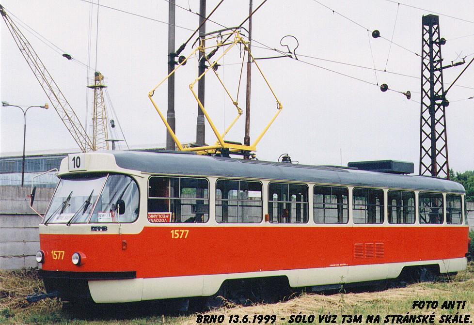 Fotogalerie » ČKD Tatra T3M 1577 | Brno | Stránská skála | Stránská skála, smyčka