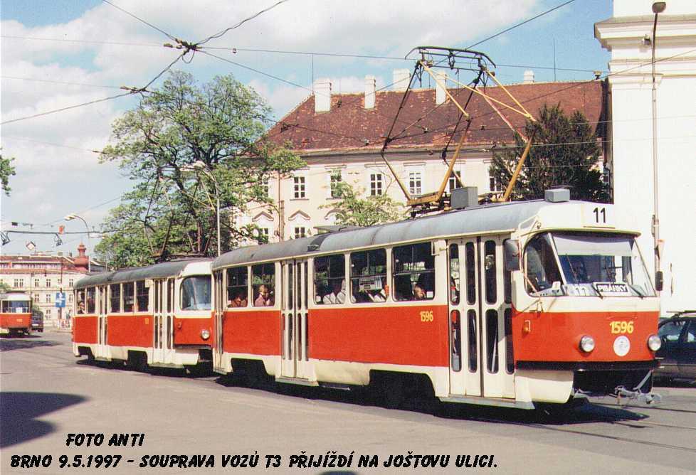 Fotogalerie » ČKD Tatra T3 1596 | Brno | střed | Moravské náměstí