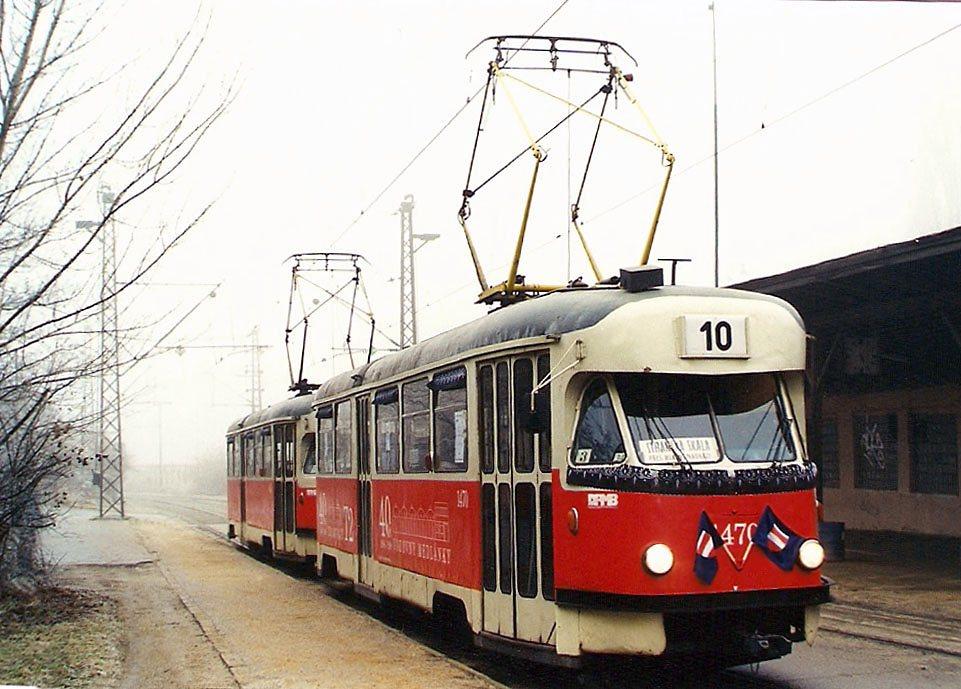 Fotogalerie » Tatra T2R 1470 | Tatra T2R 1462 | Brno | Stránská skála | Stránská skála