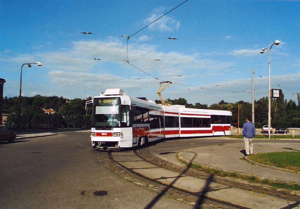 Fotogalerie » ČKD DS RT6N1 1804   Brno   Masarykova čtvrť   Náměstí míru   Náměstí Míru, smyčka