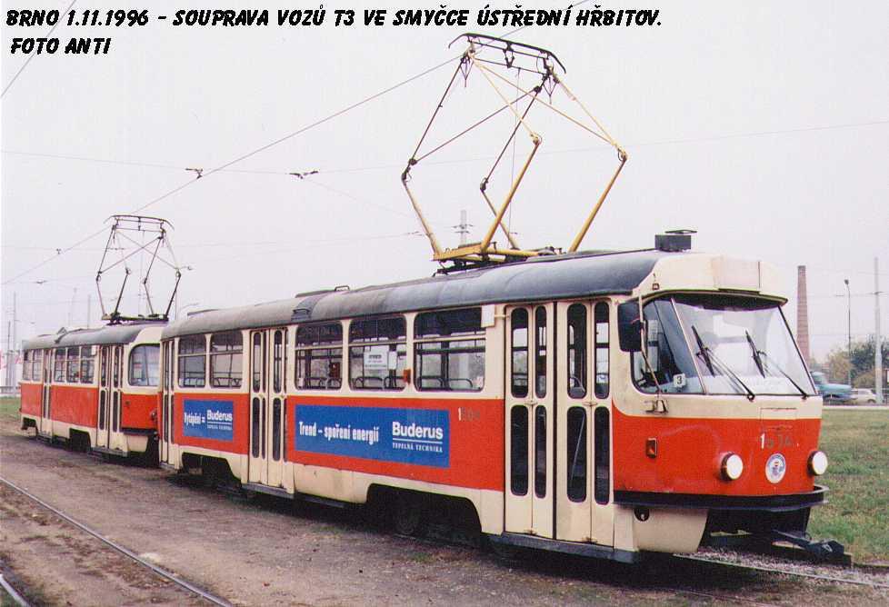Fotogalerie » ČKD Tatra T3 1504 | Brno | Horní Heršpice | Ústřední hřbitov, smyčka
