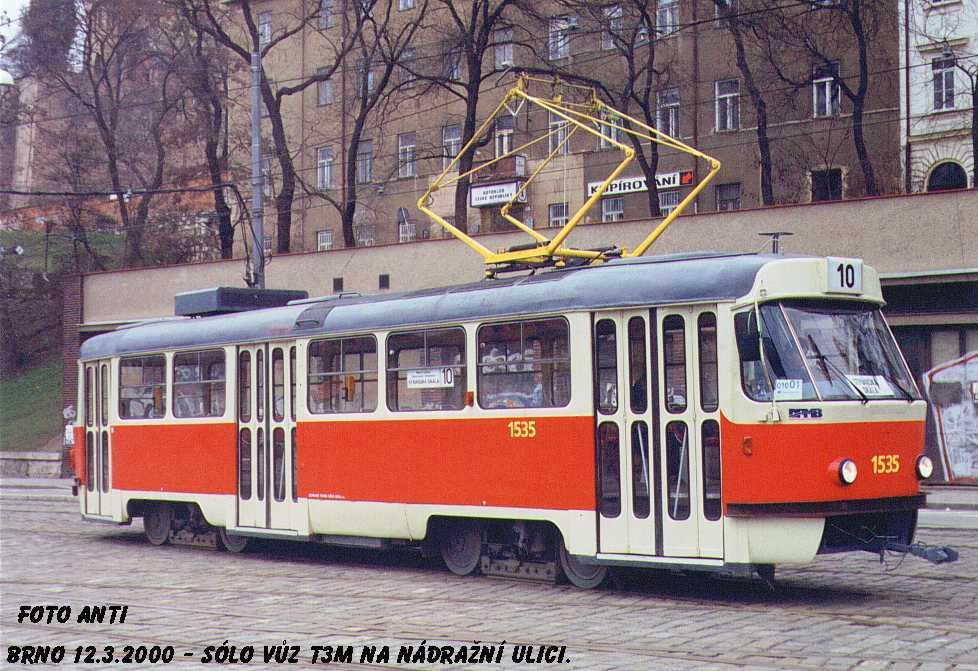 Fotogalerie » ČKD Tatra T3M 1535 | Brno | střed | Nádražní