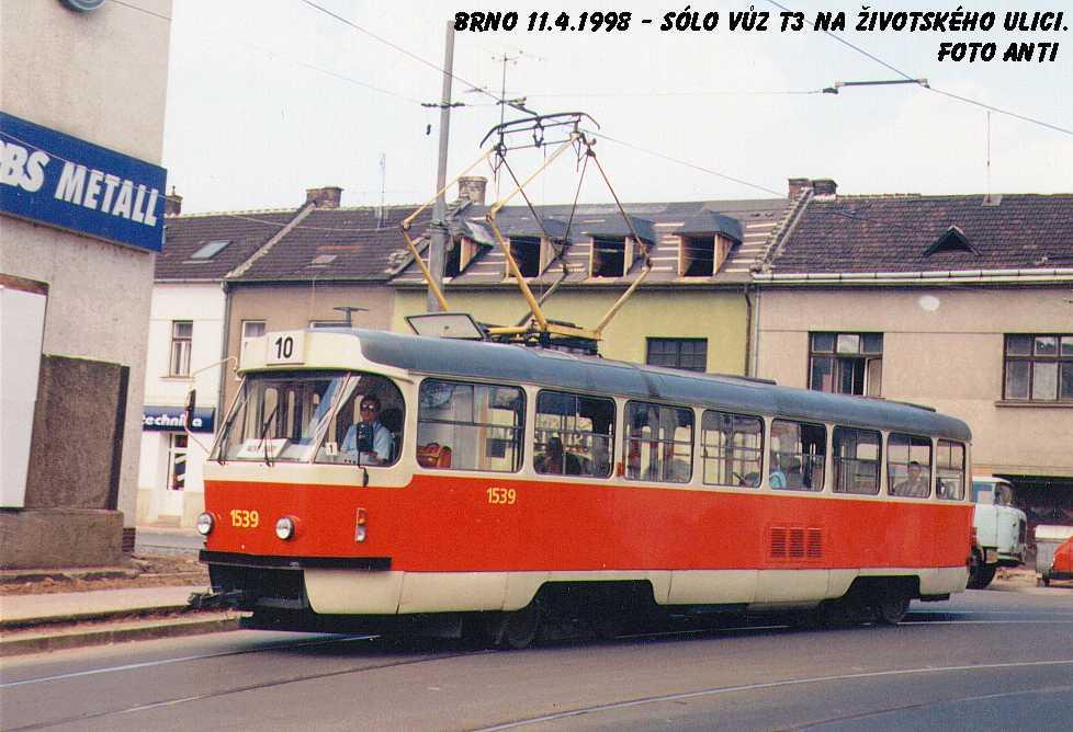 Fotogalerie » ČKD Tatra T3 1539 | Brno | Židenice | Životského