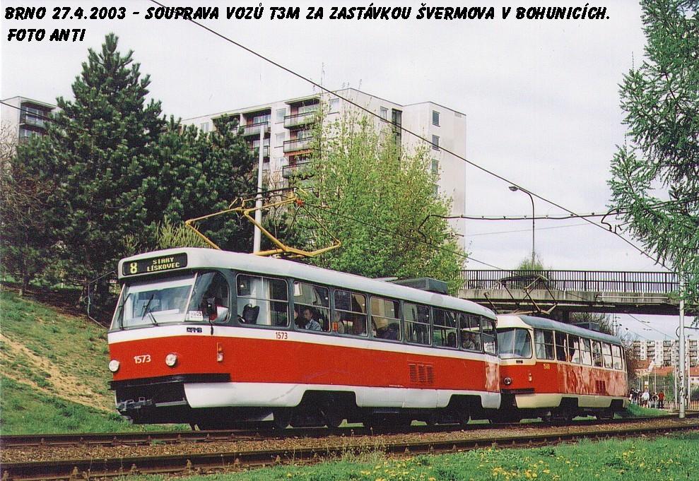 Fotogalerie » ČKD Tatra T3M 1573 | ČKD Tatra T3M 1580 | Brno | Bohunice
