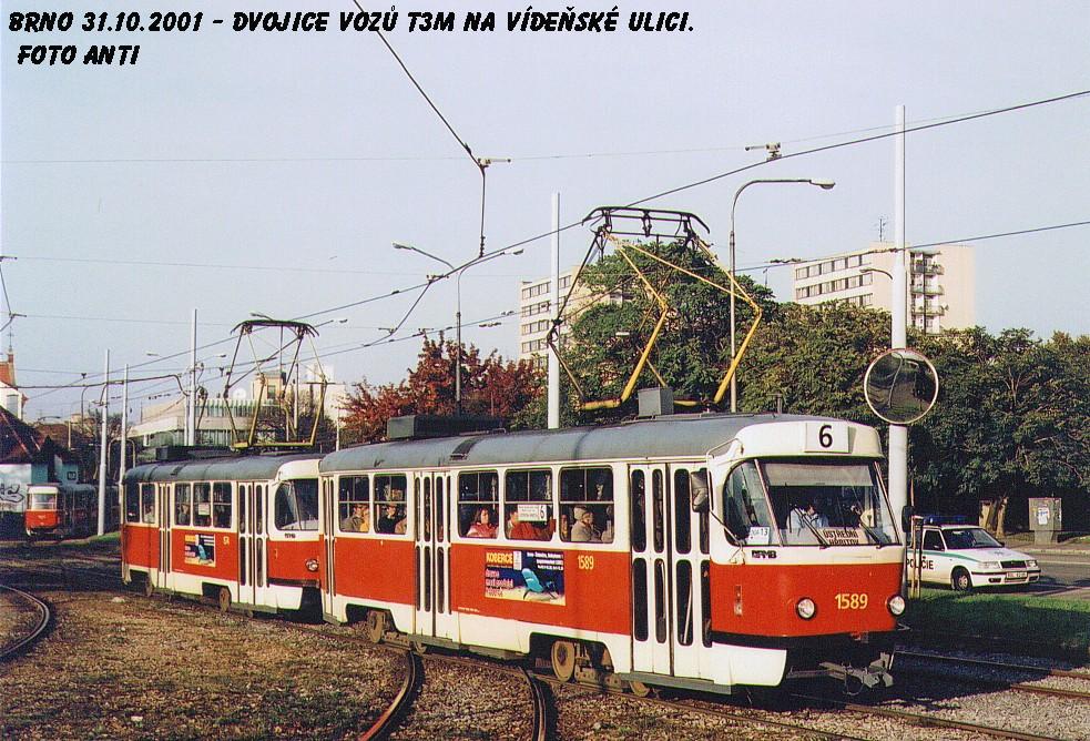 Fotogalerie » ČKD Tatra T3M 1589 | Brno | Štýřice | Vídeňská