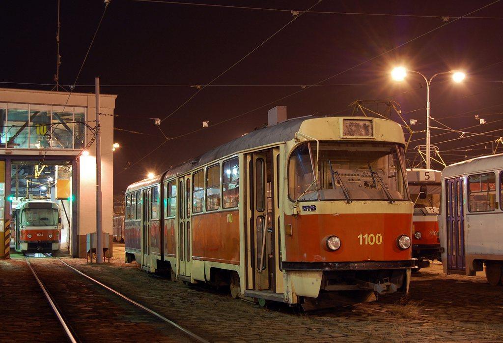 Fotogalerie » ČKD Tatra K2 1100   Brno   vozovna Pisárky