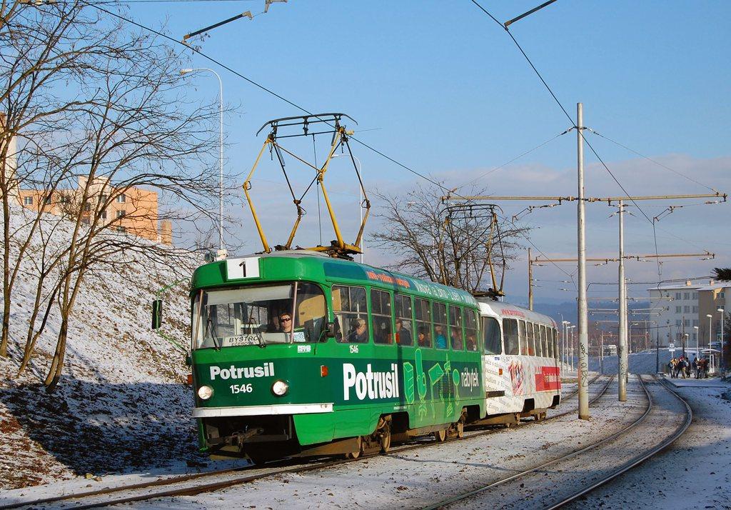 Fotogalerie » ČKD Tatra T3 1546 | ČKD Tatra T3 1547 | Brno | Bystrc