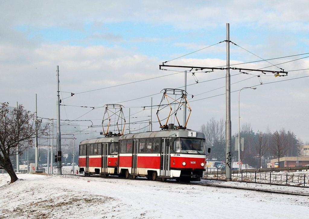 Fotogalerie » ČKD Tatra T3G 1608   ČKD Tatra T3G 1606   Brno   Bystrc
