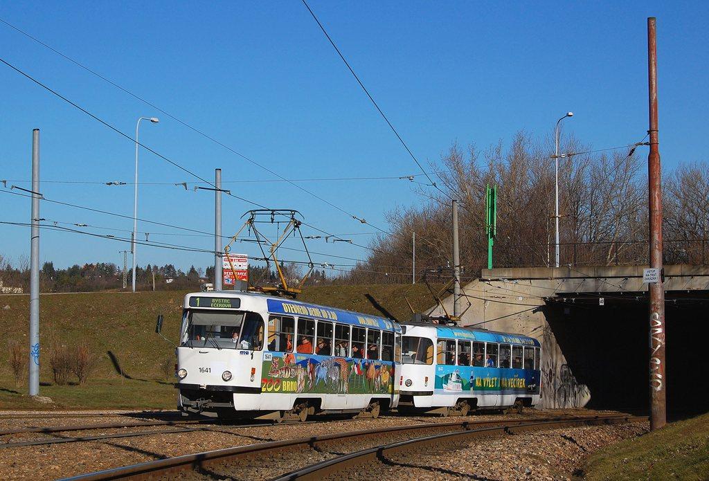 Fotogalerie » ČKD Tatra T3G 1641 | ČKD Tatra T3G 1642 | Brno | Bystrc