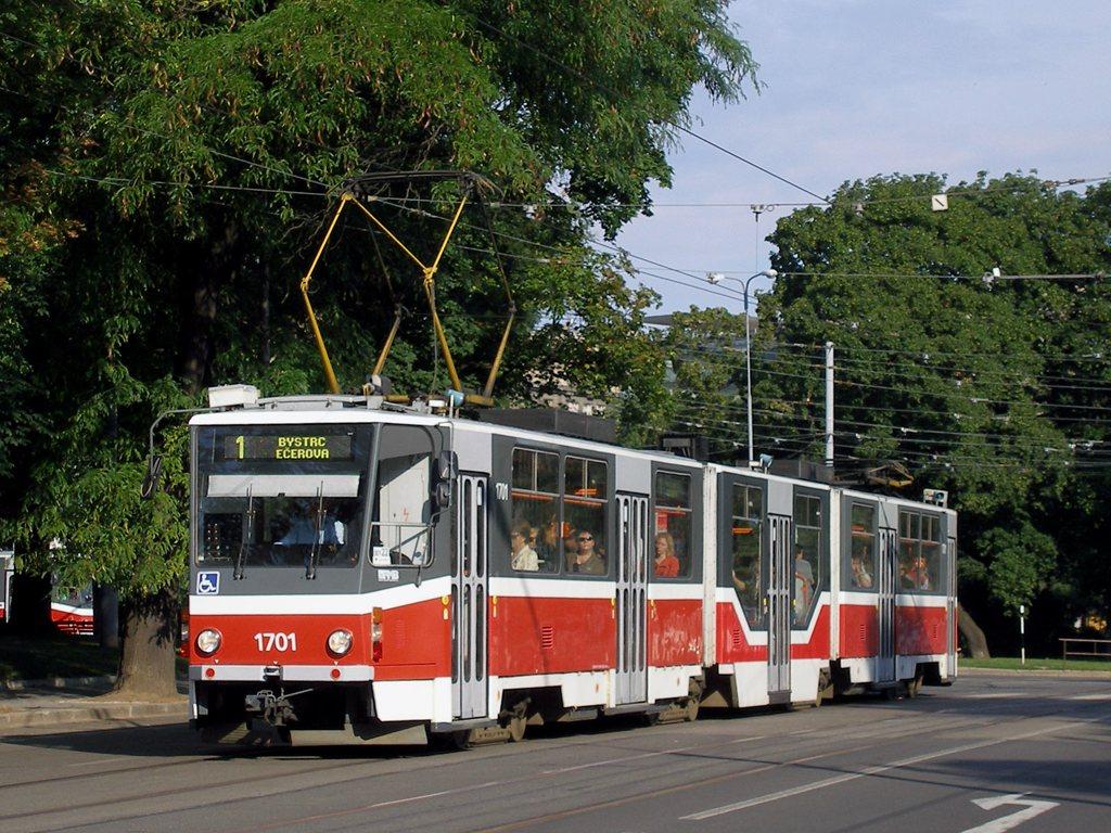 Fotogalerie » ČKD Tatra KT8D5R.N2 1701 | Brno | střed | Moravské náměstí