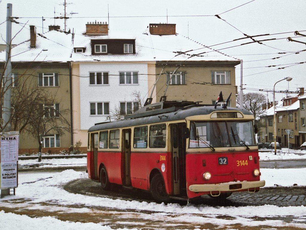Fotogalerie » Škoda 9TrHT28 3144 | Brno | Královo Pole | Srbská | Srbská