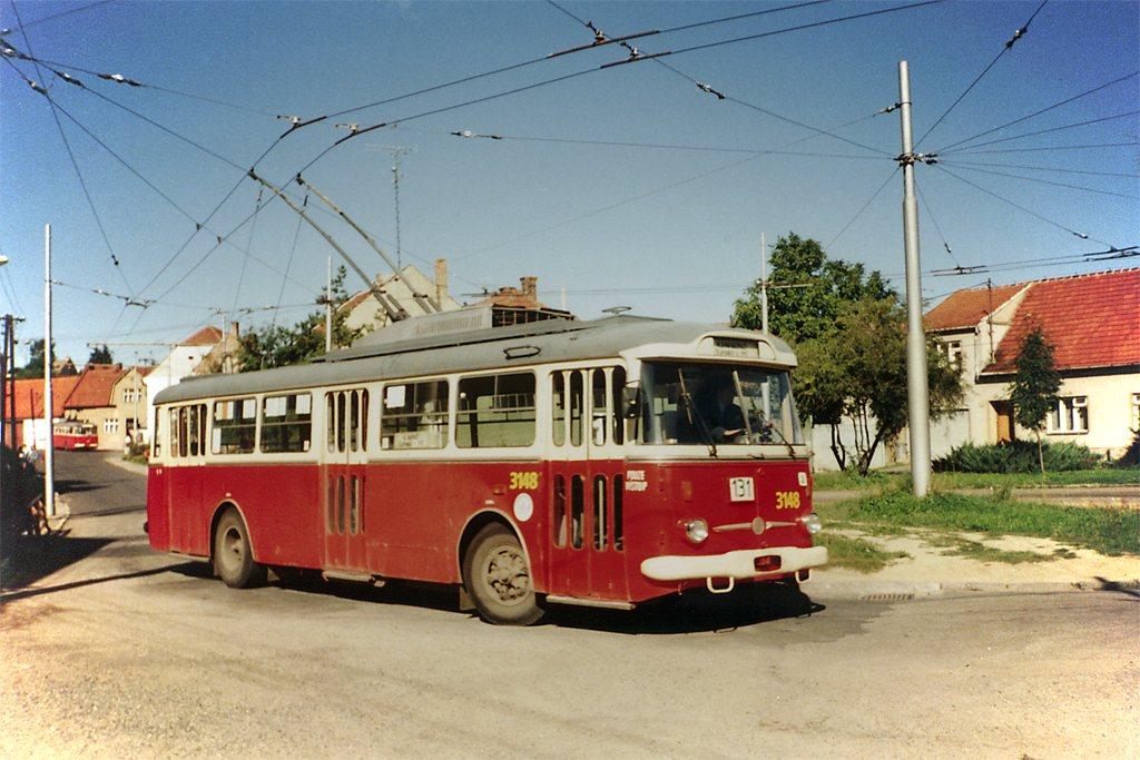 Fotogalerie » Škoda 9TrHT28 3148 | Šlapanice | Kalvodova | Šlapanice, smyčka