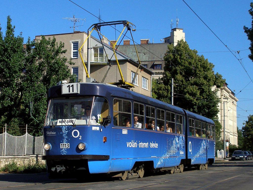 Fotogalerie » ČKD Tatra K2 1113 | Brno | Černá Pole | Lesnická