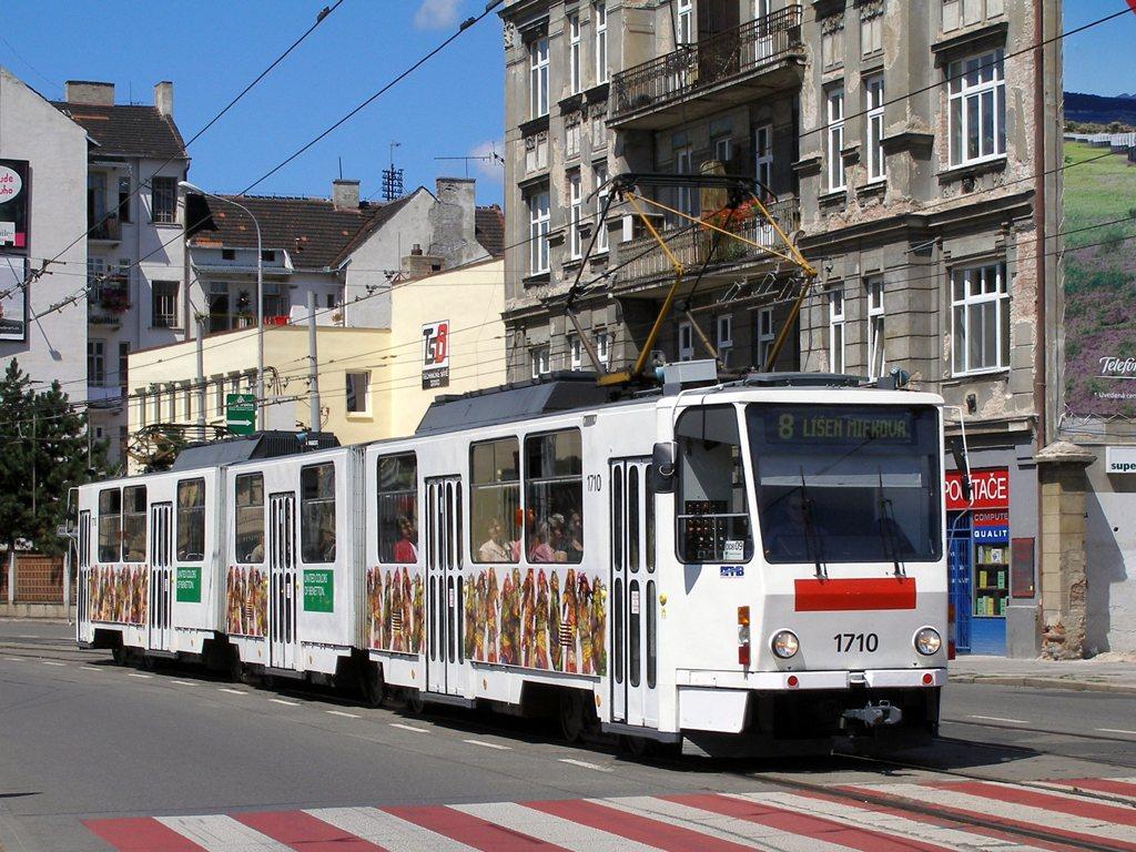 Fotogalerie » ČKD Tatra KT8D5 1710 | Brno | Trnitá | Křenová