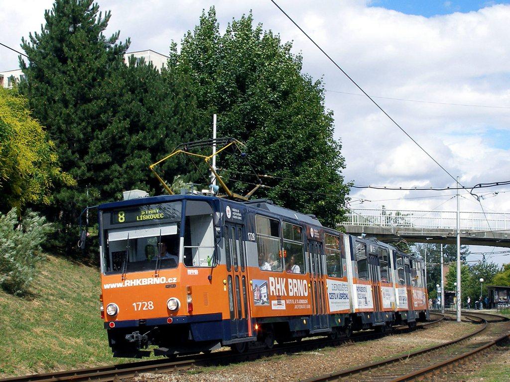 Fotogalerie » ČKD Tatra KT8D5SU 1728 | Brno | Bohunice