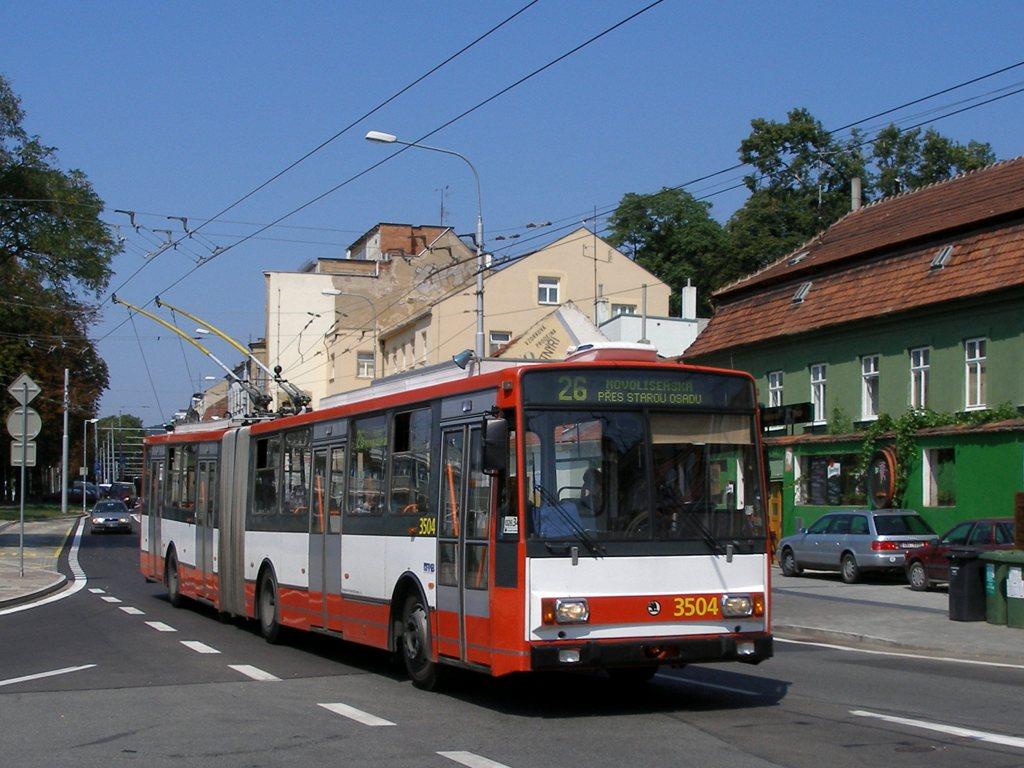 Fotogalerie » Škoda 15TrM 3504   Brno   Pisárky   Hlinky