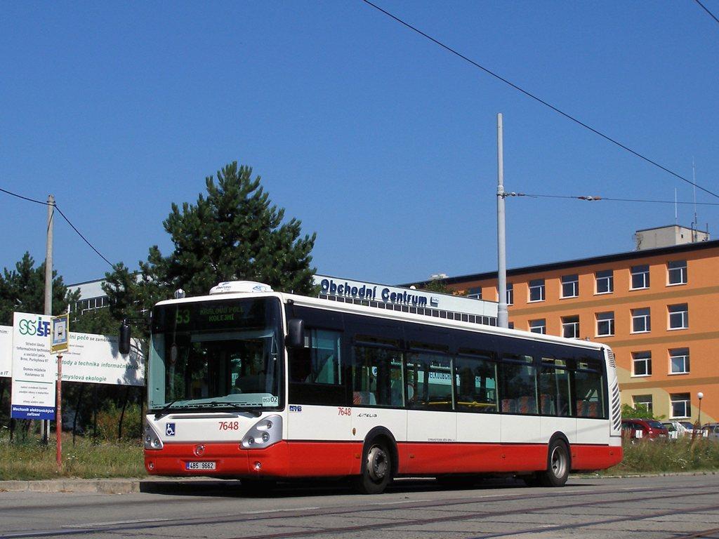 Fotogalerie » Irisbus Citelis 12M 7648 | Brno | Královo Pole | Purkyňova | Červinkova