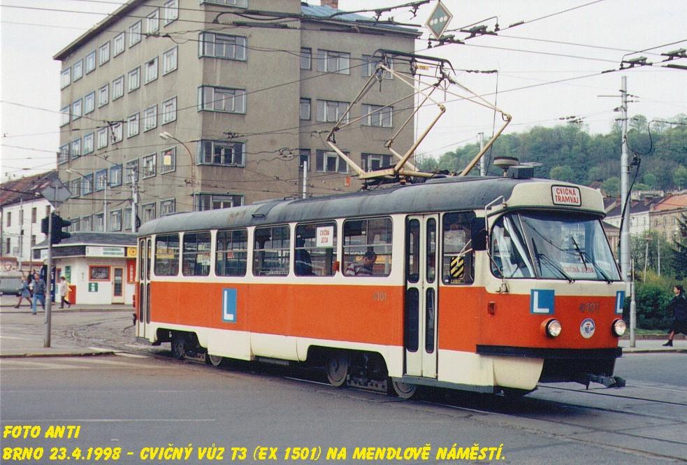 Fotogalerie » ČKD Tatra T3 školní 4101 | Brno | Staré Brno | Mendlovo náměstí