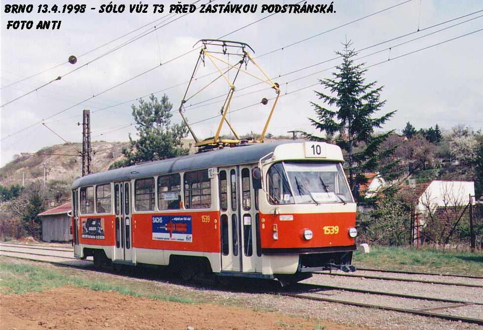 Fotogalerie » ČKD Tatra T3 1539 | Brno | Slatina | Podstránská