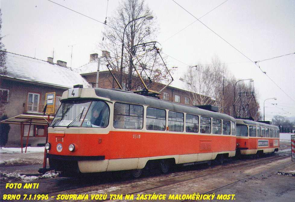 Fotogalerie » ČKD Tatra T3M 1541 | Brno | Maloměřice | Dolnopolní | Maloměřický most