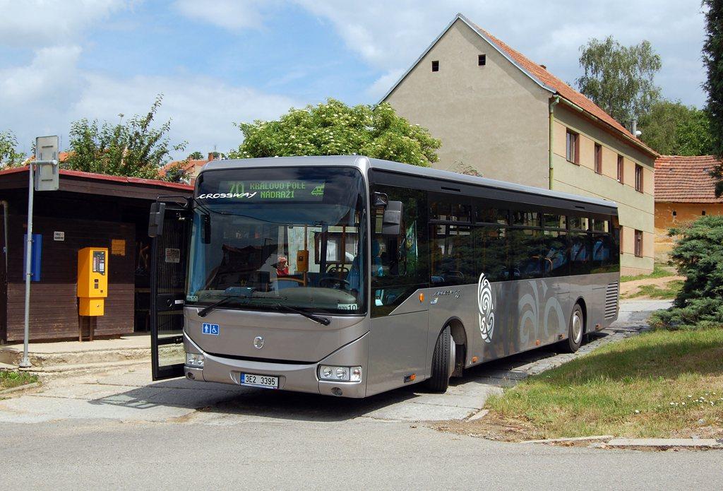 Fotogalerie » Irisbus Crossway LE 12M 3E2 3395 2709 | Brno | Ořešín | Klimešova | Ořešín
