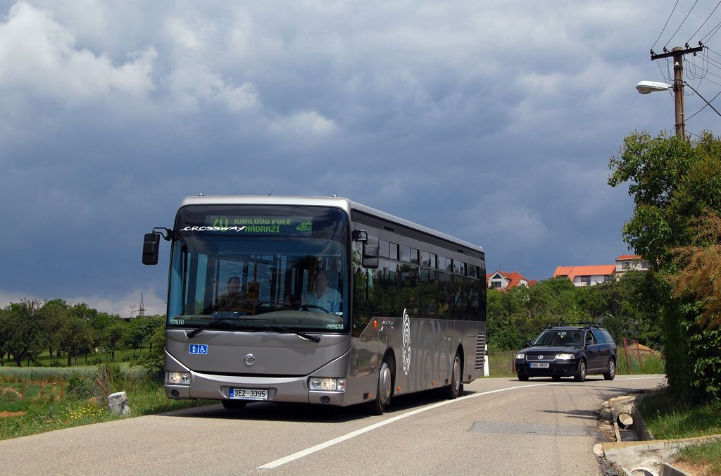 Fotogalerie » Irisbus Crossway LE 12M 3E2 3395 2709 | Brno | Ořešín | Klimešova