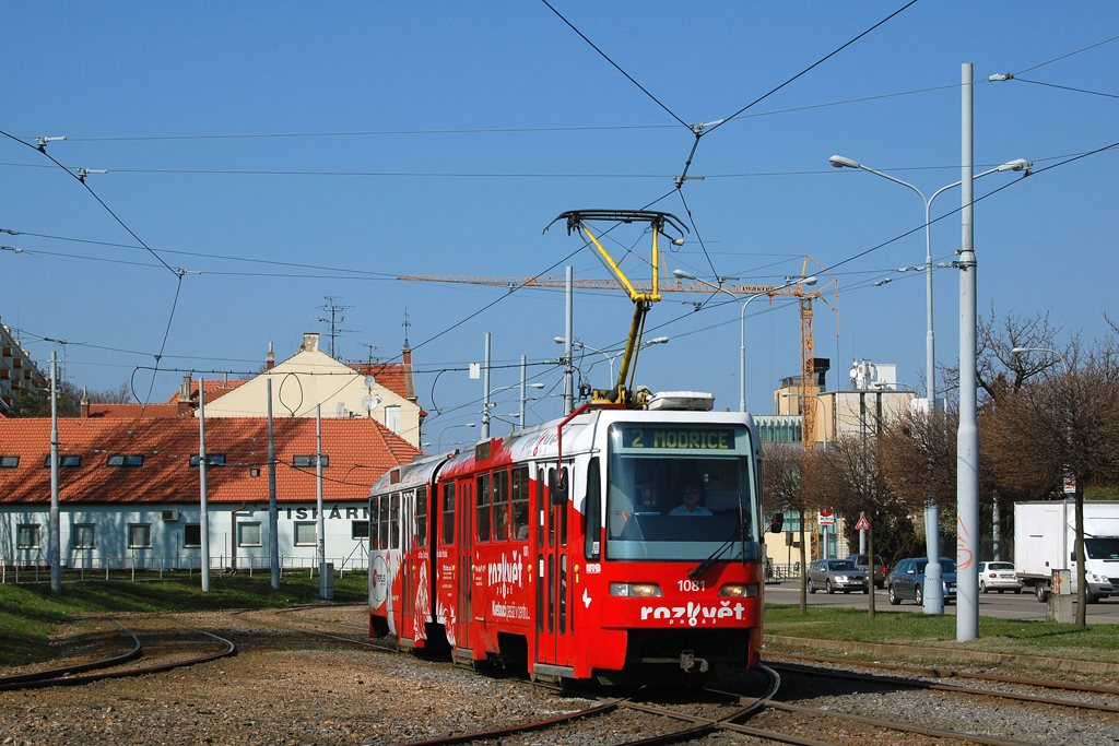 Fotogalerie » ČKD Tatra K2R03 1081 | Brno | Štýřice | Vídeňská