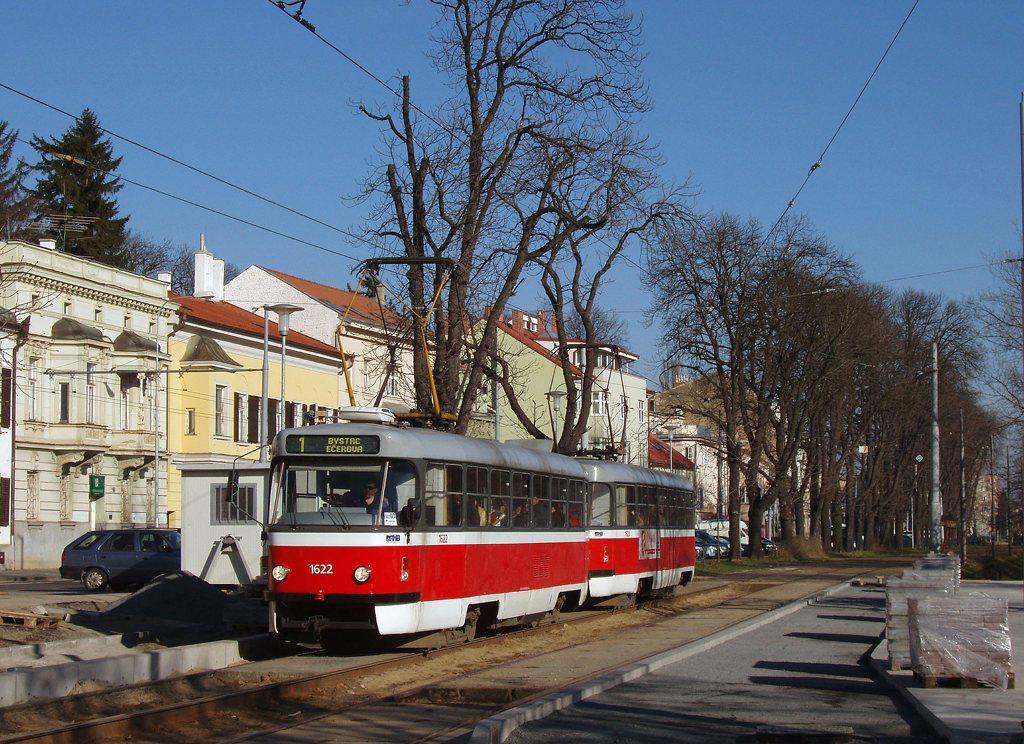Fotogalerie » ČKD Tatra T3P 1622 | ČKD Tatra T3P 1623 | Brno | Pisárky | Hlinky | Výstaviště, vstup G2