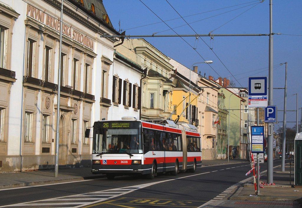 Fotogalerie » Škoda 22Tr 3608   Brno   Pisárky   Hlinky   Výstaviště, vstup G2
