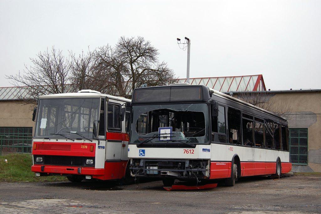 Fotogalerie » Karosa B732.40 7278 | Irisbus Citybus 12M 2071.30 7612 | Brno | Medlánky | vozovna Medlánky