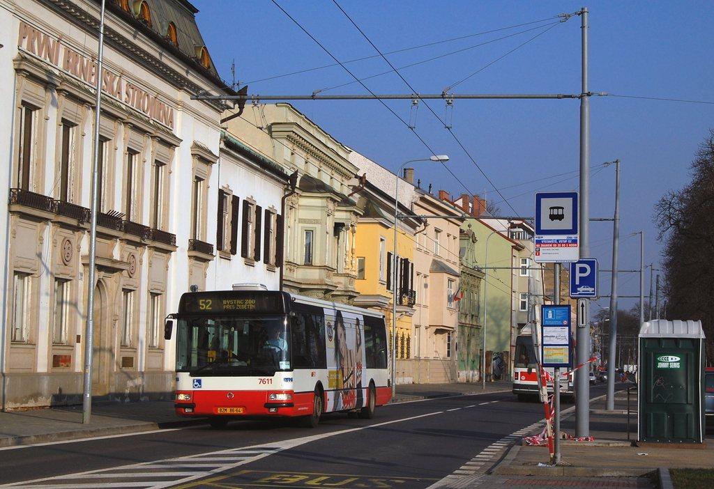 Fotogalerie » Irisbus Citybus 12M 2071.30 7611 | Brno | Pisárky | Hlinky | Výstaviště, vstup G2